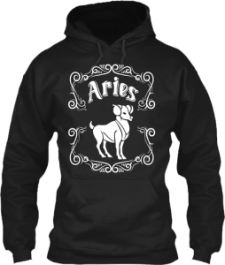 Aries Astrology Zodiac Sign Birth Sign Aries RAM Hoodie