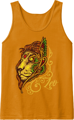 Leo Lion Artistic Astrology Zodiac Sign Tank Top