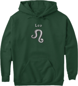 Leo Modern Zodiac Symbol Hoodie - lots of colors to choose from